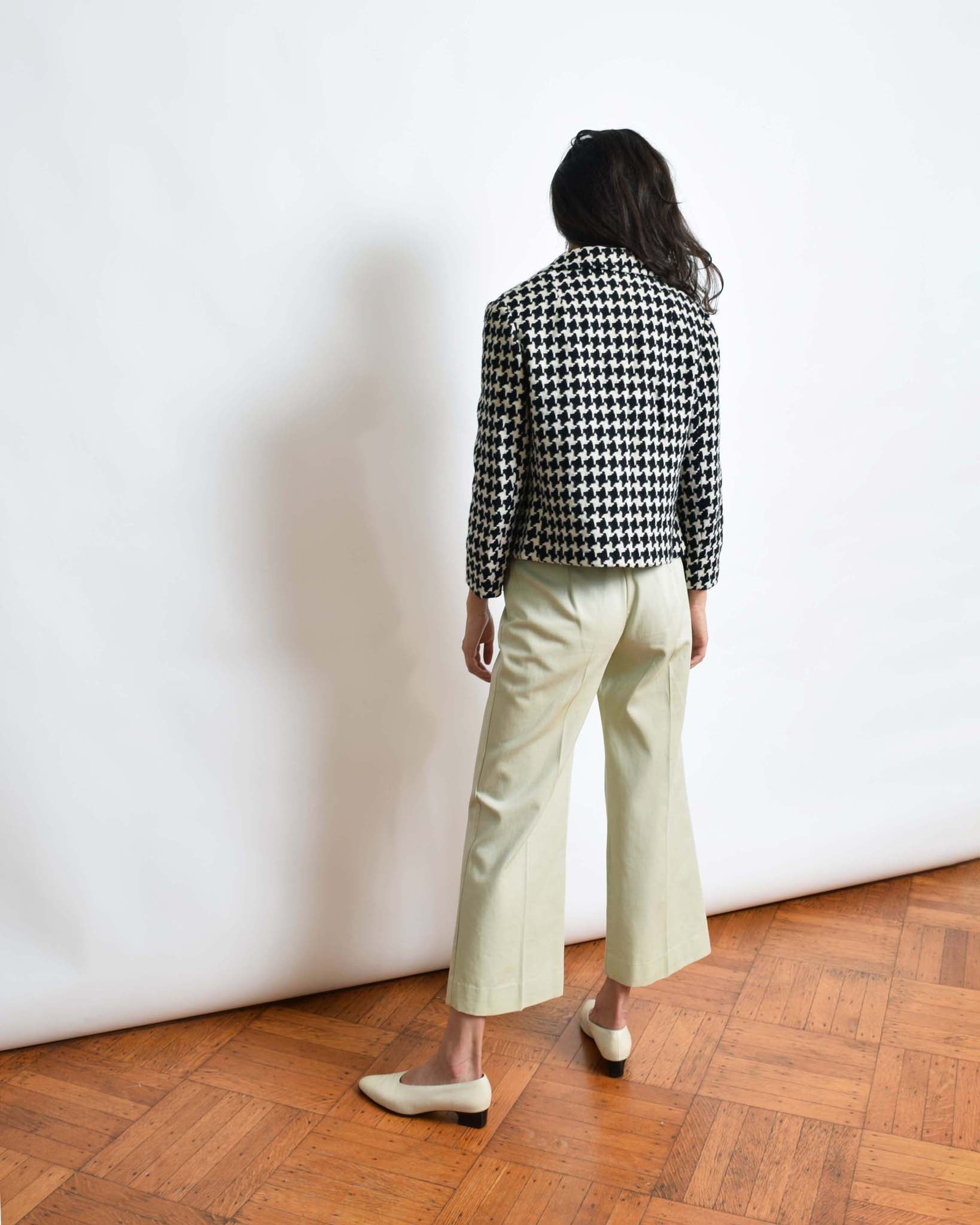 Vintage 1960s Houndstooth Cropped Jacket