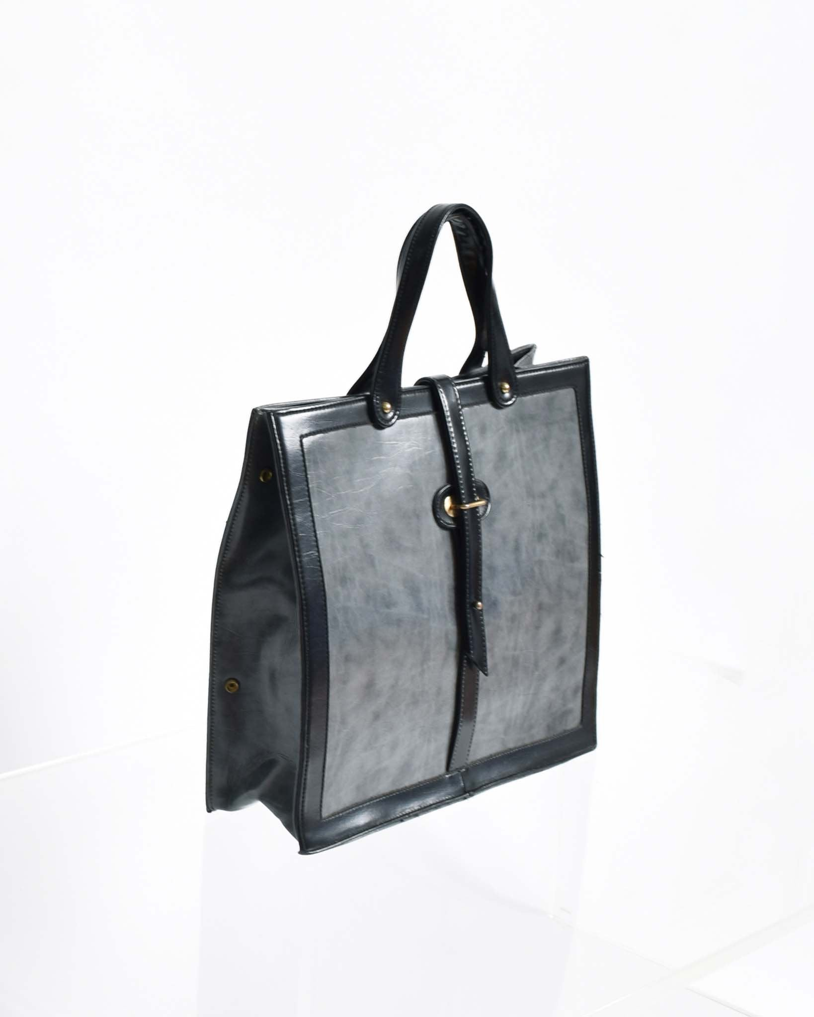 Vintage 1960s Large Grey Tote