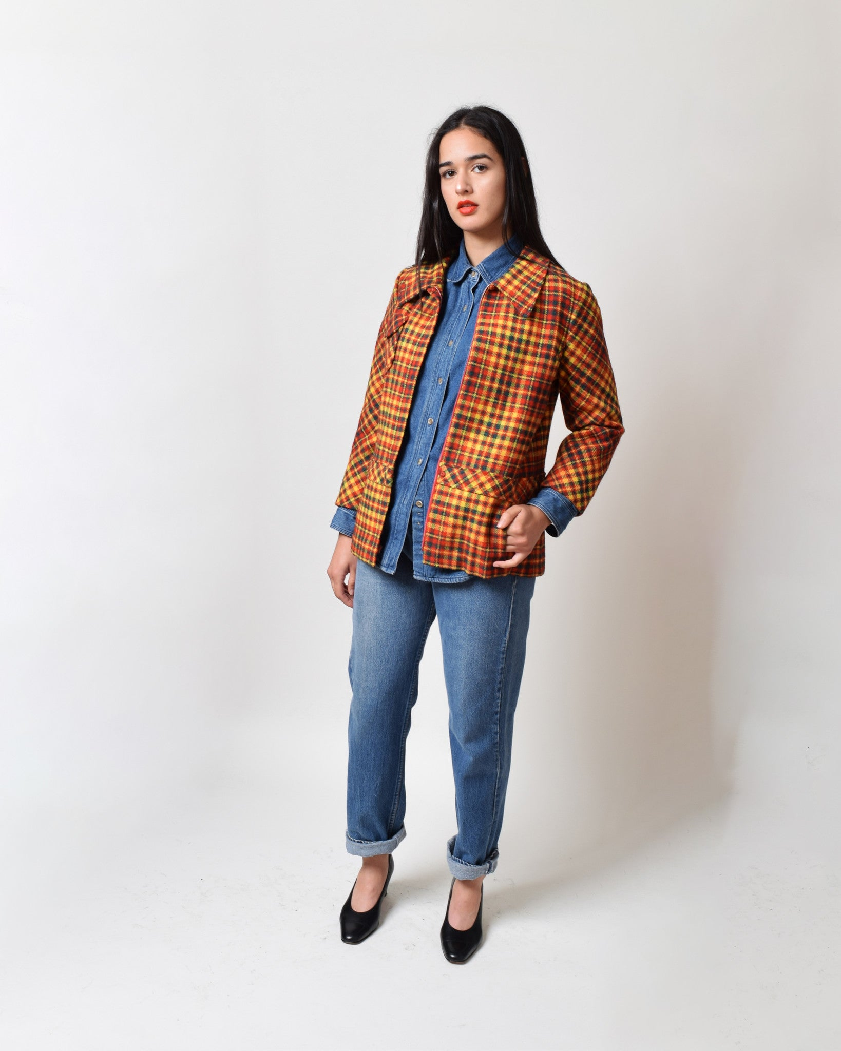 Vintage 1960s Plaid Check Jacket