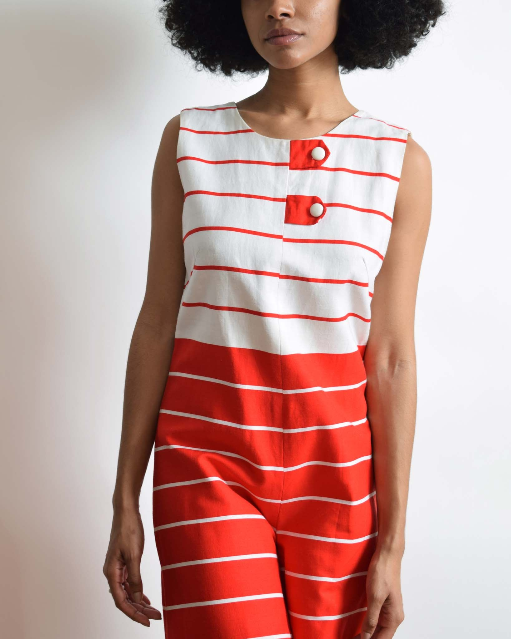 Vintage 1960s Striped Romper