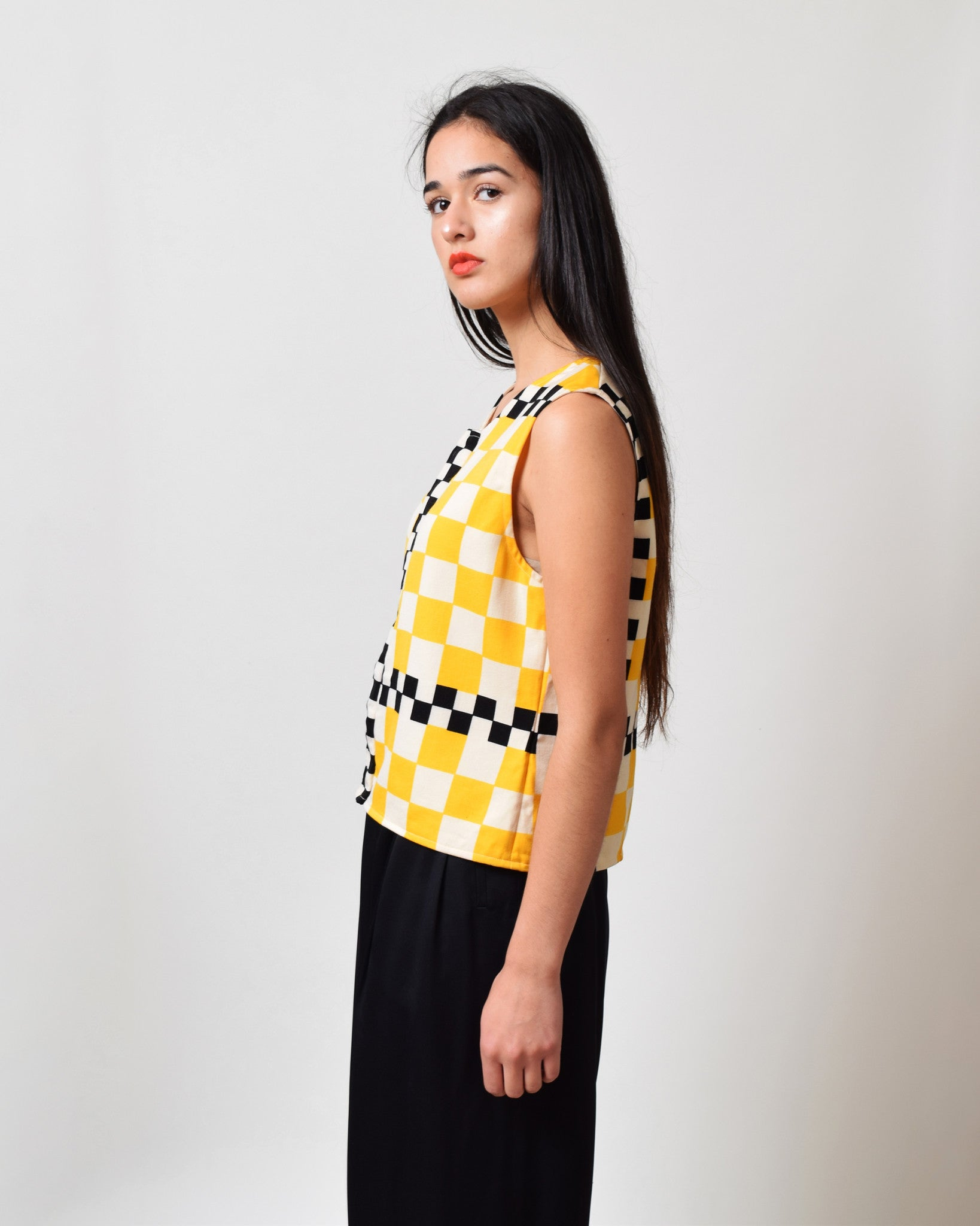 Vintage 1960s Yellow Taxi Top