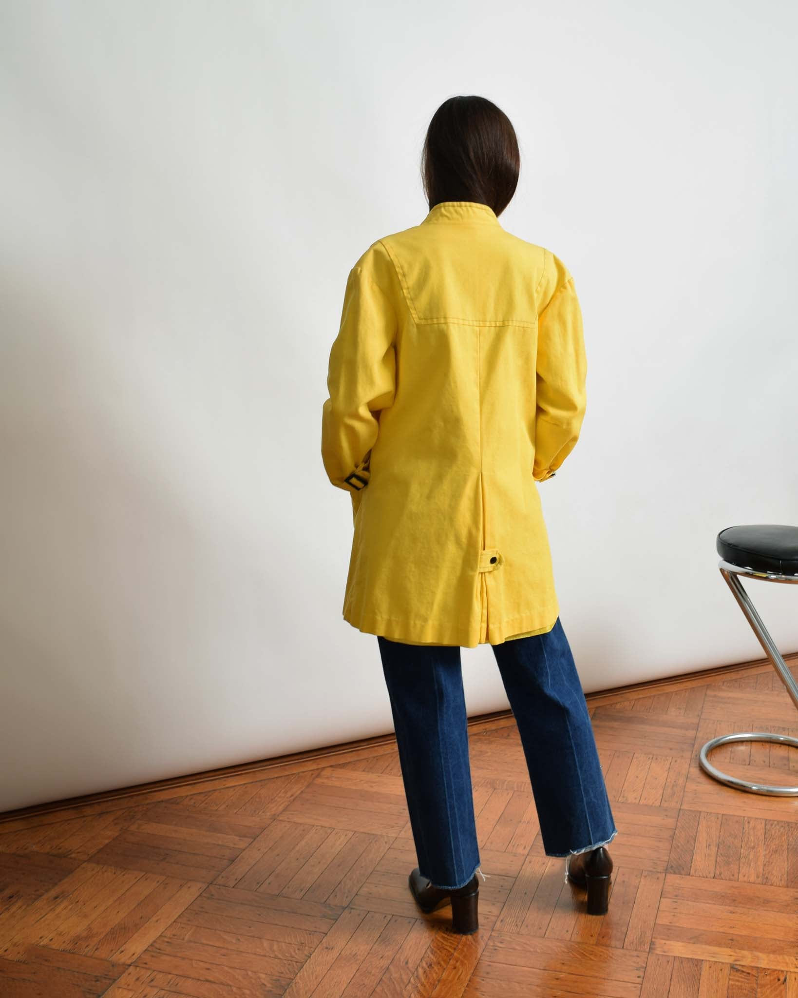 Vintage 1960s Yellow Trench