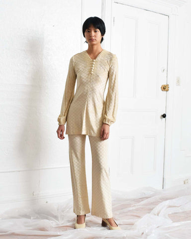 Vintage 1970s Burnout Pants Suit