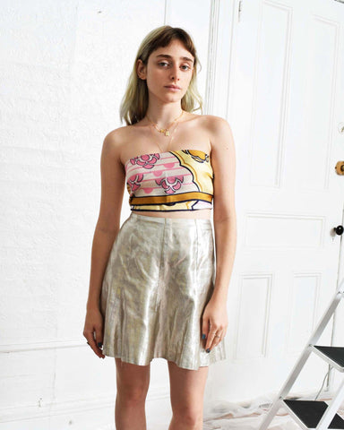 Vintage 1970s Metallic Skirt