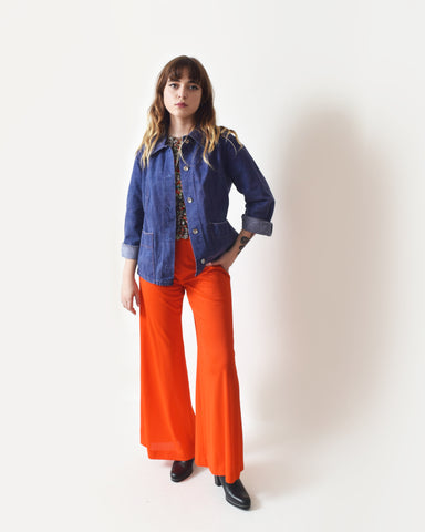 Vintage Orange Red Palazzo Pants