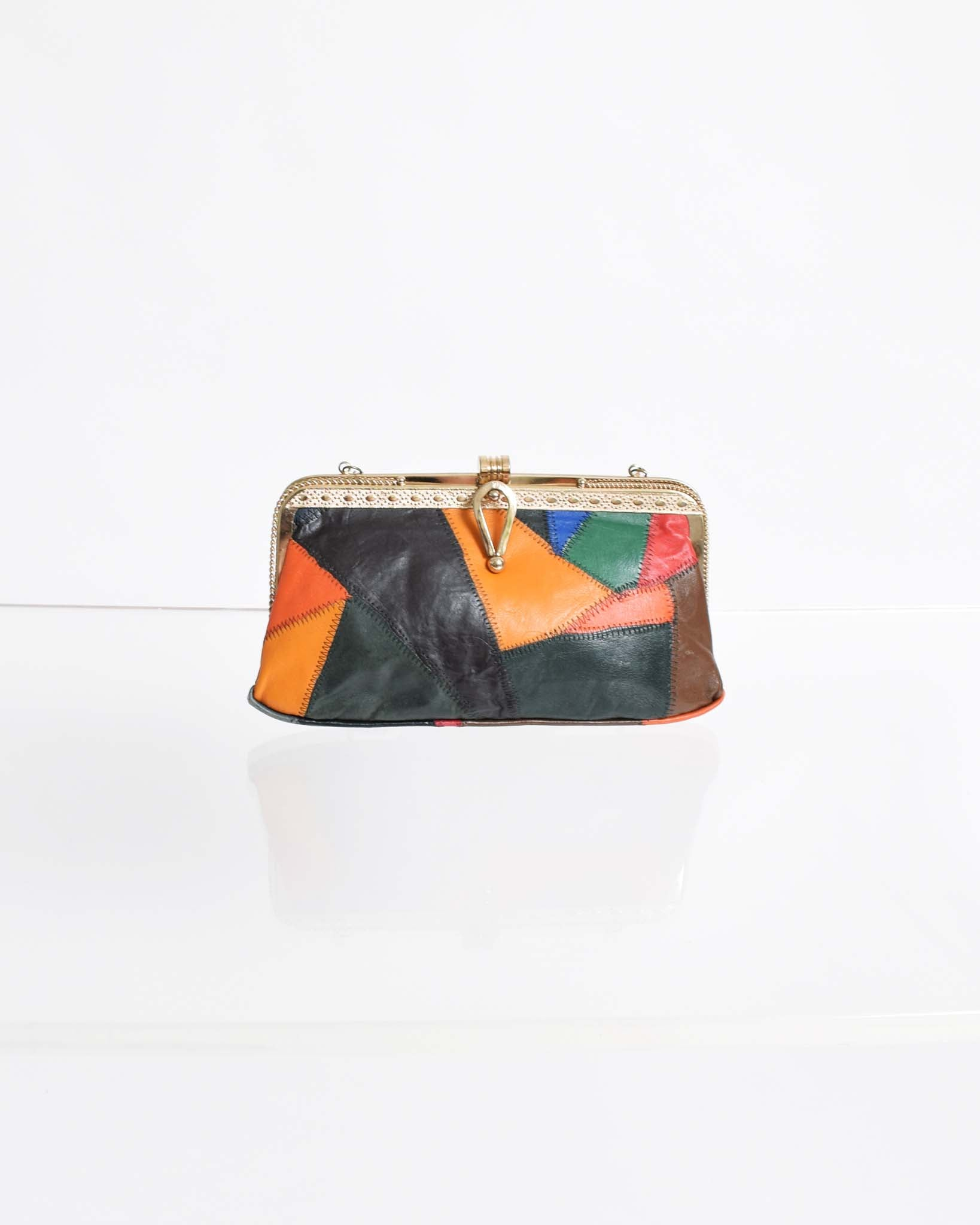 Vintage 1970s Patchwork Purse