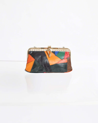 Vintage 1960s Gold Patchwork Evening Bag