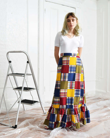 Vintage 1970s Patchwork Skirt