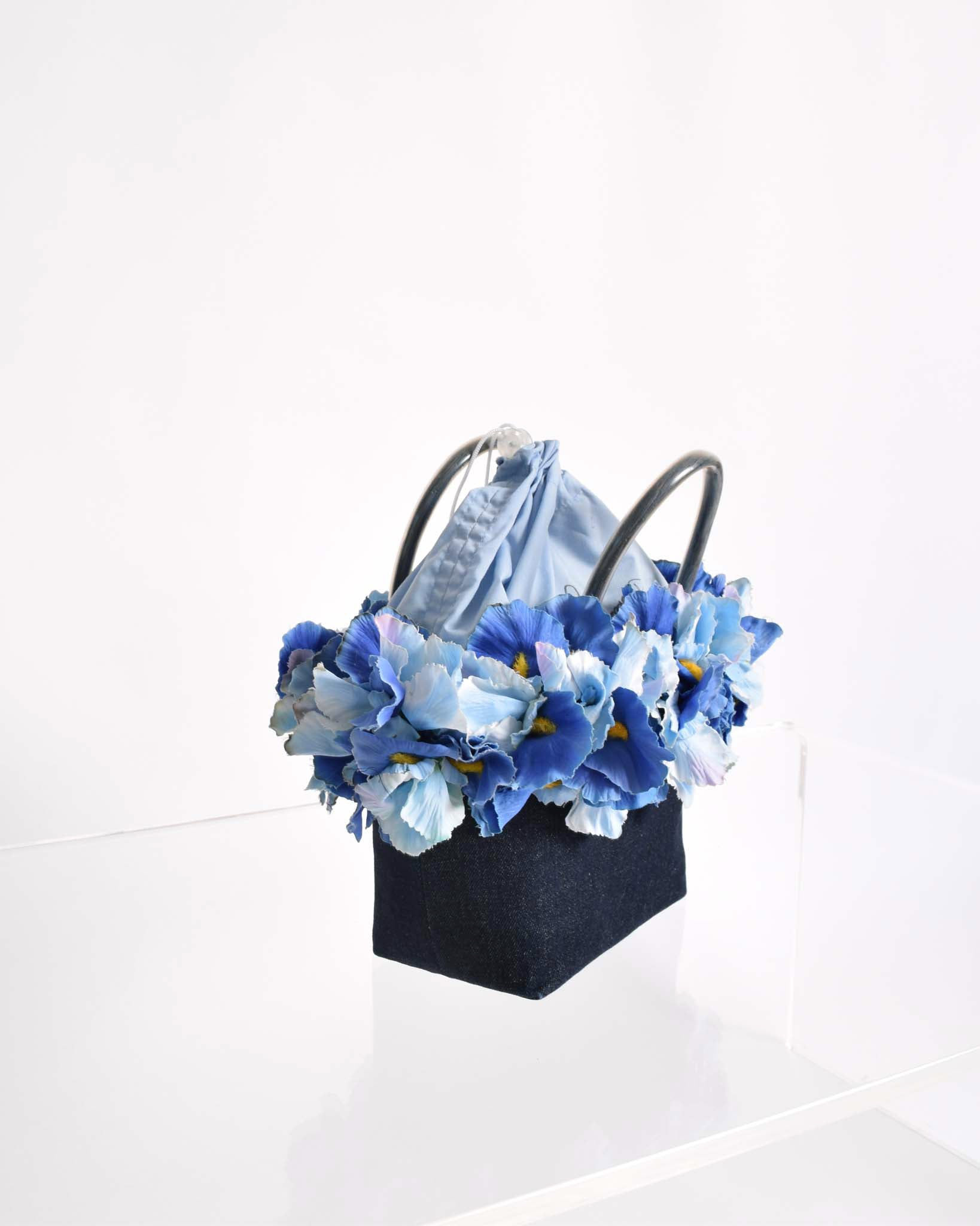 Vintage Flower Basket Handbag