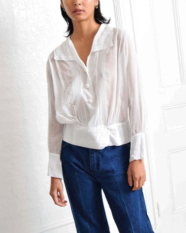 Antique Pintucked Blouse
