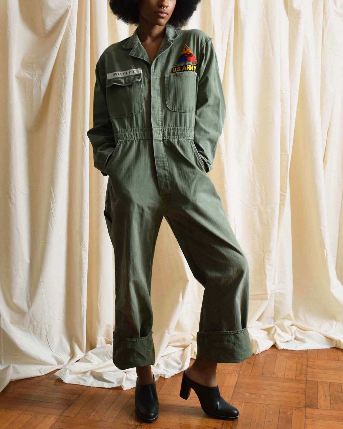 Vintage Distressed Army Flight Suit