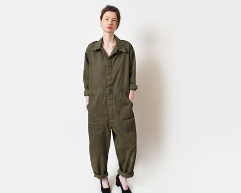 Vintage Army Green Flight Suit