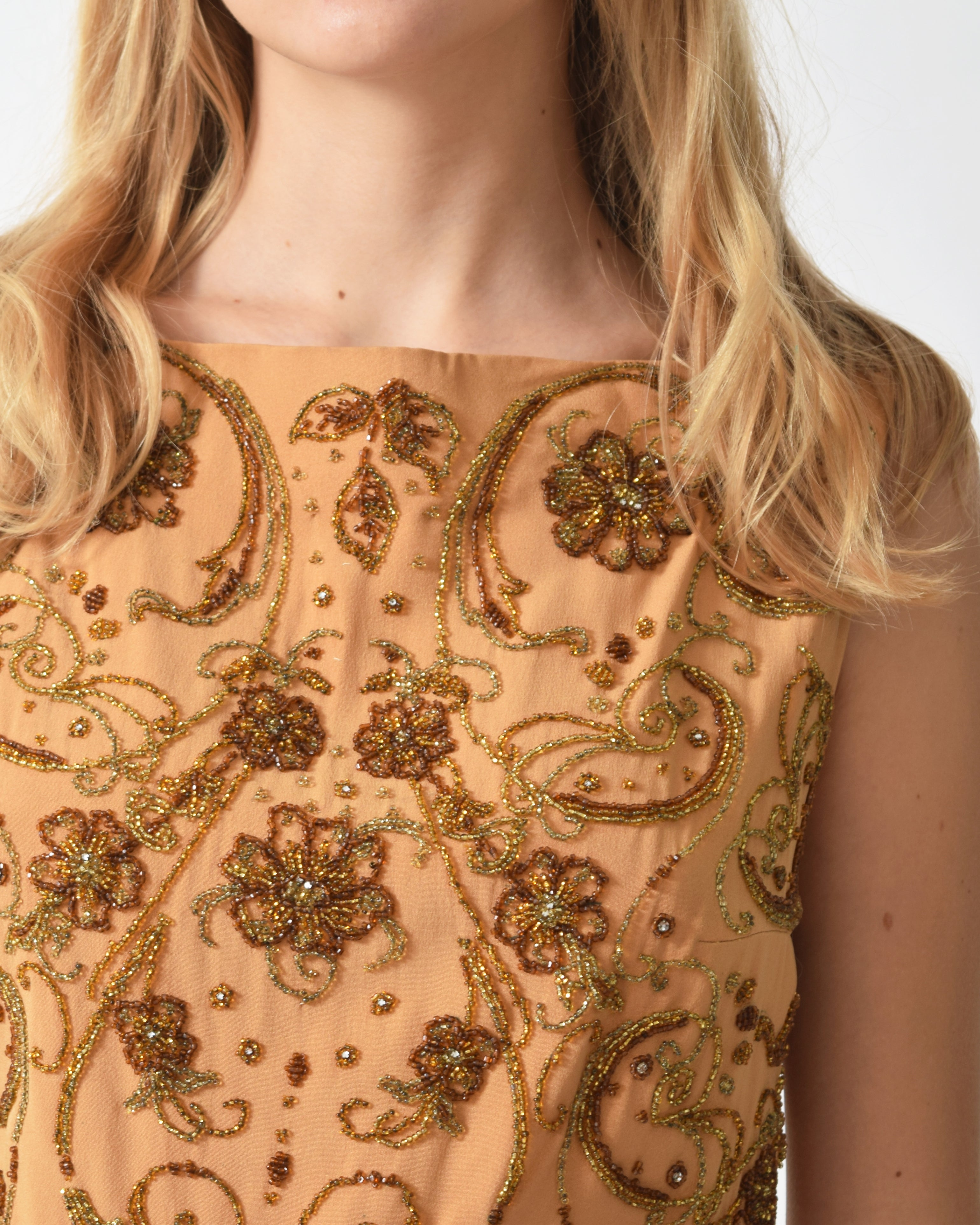 Vintage 1940s Beaded Shell Top