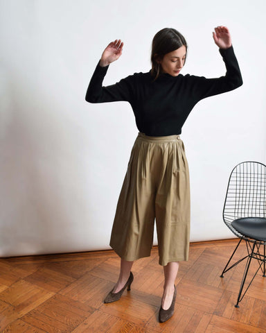 Vintage 1970s Leather Culottes