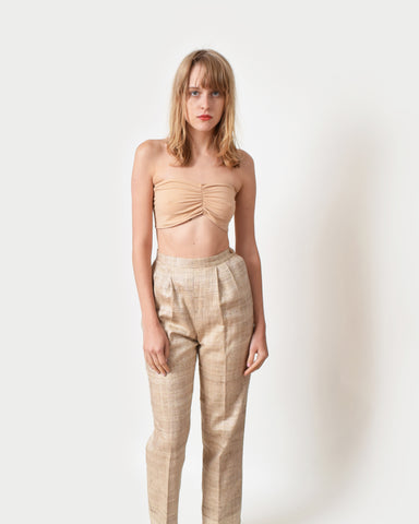 Vintage Raw Silk Trousers