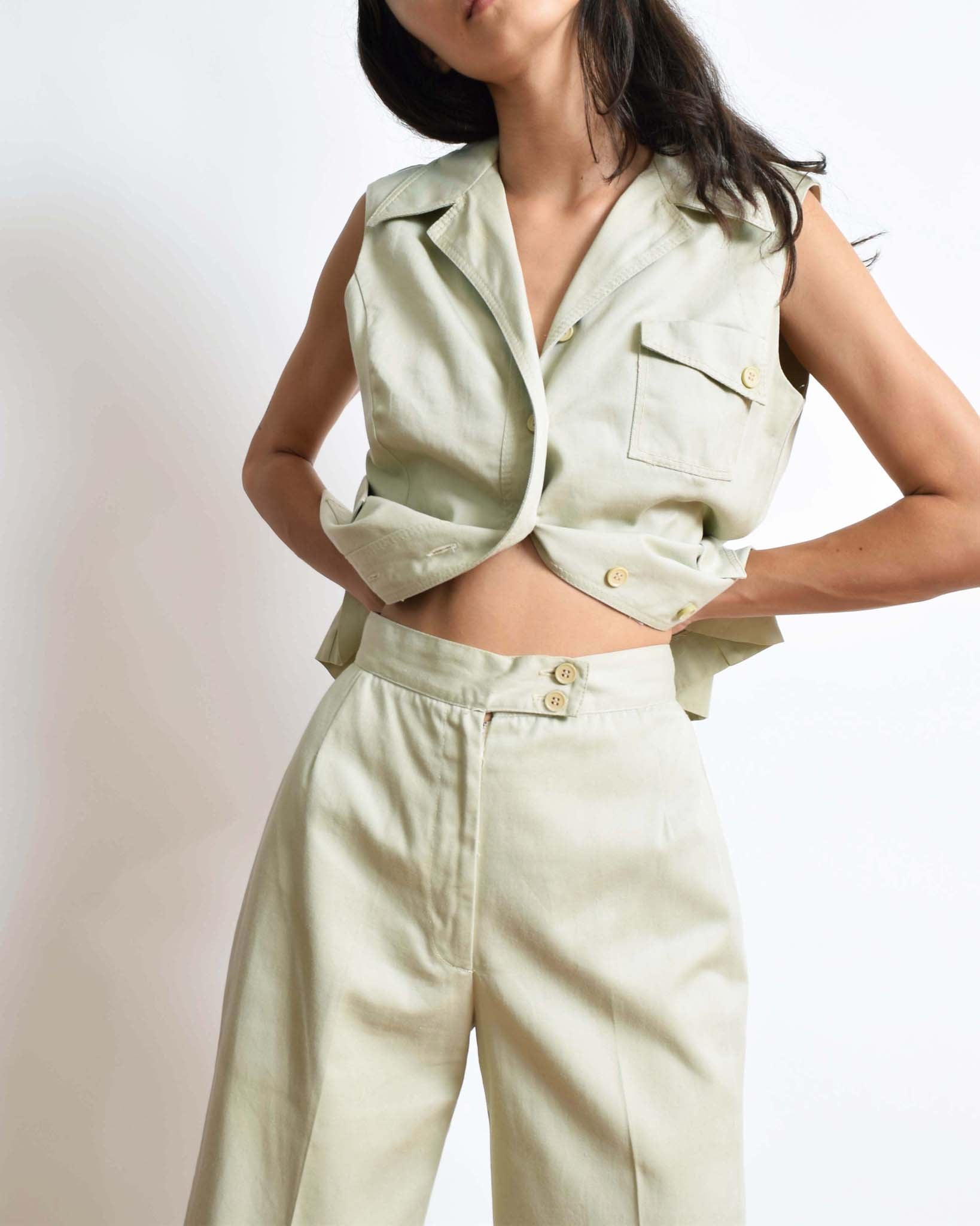 Vintage 1970s Safari Two Piece Set