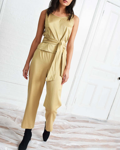 Vintage Gold Silk 3 Piece Set