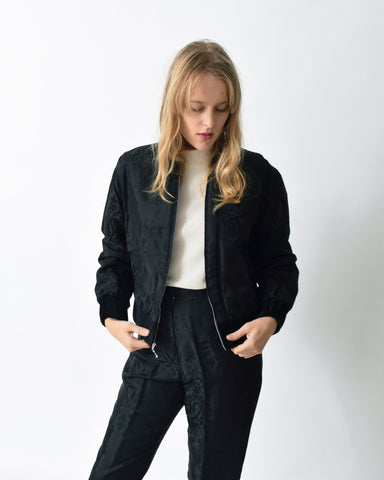 Vintage Baroque Bomber Jacket & Pants Set