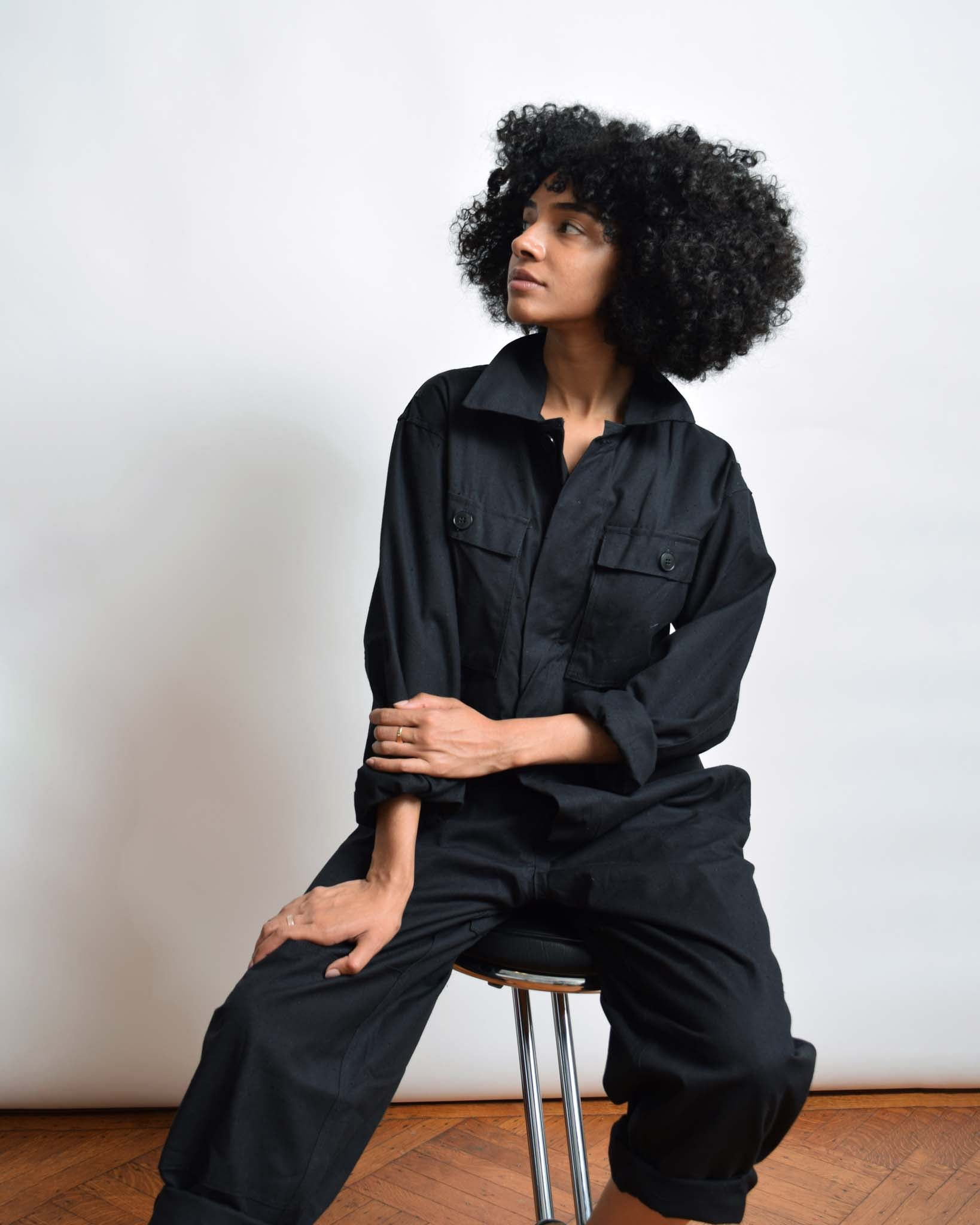 Vintage Black Military Coveralls