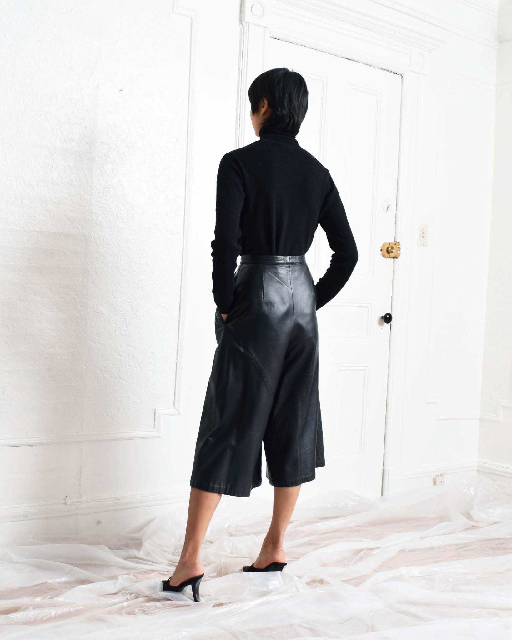 Vintage Leather Culottes
