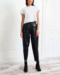 Vintage Relaxed Leather Pants