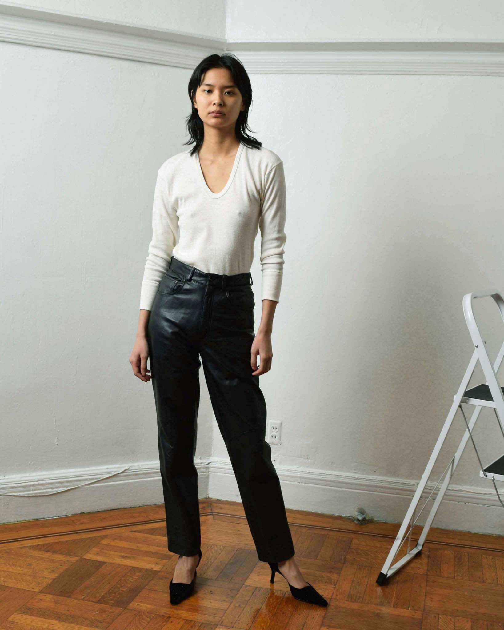 Vintage North Beach Leather Pants