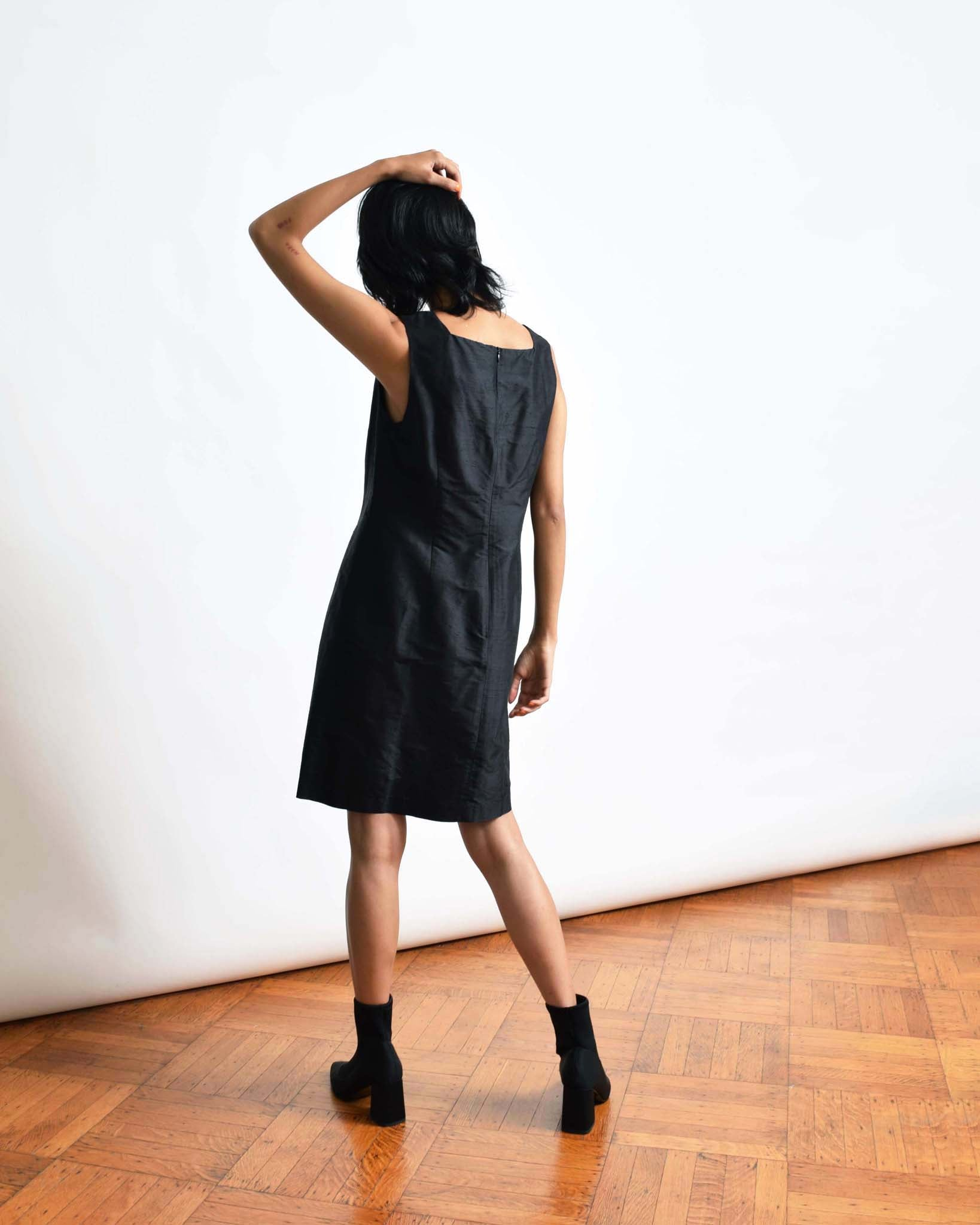 Vintage Silk Dupioni Cocktail Dress