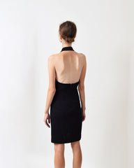 Vintage St. John Santana Knit Halter Dress