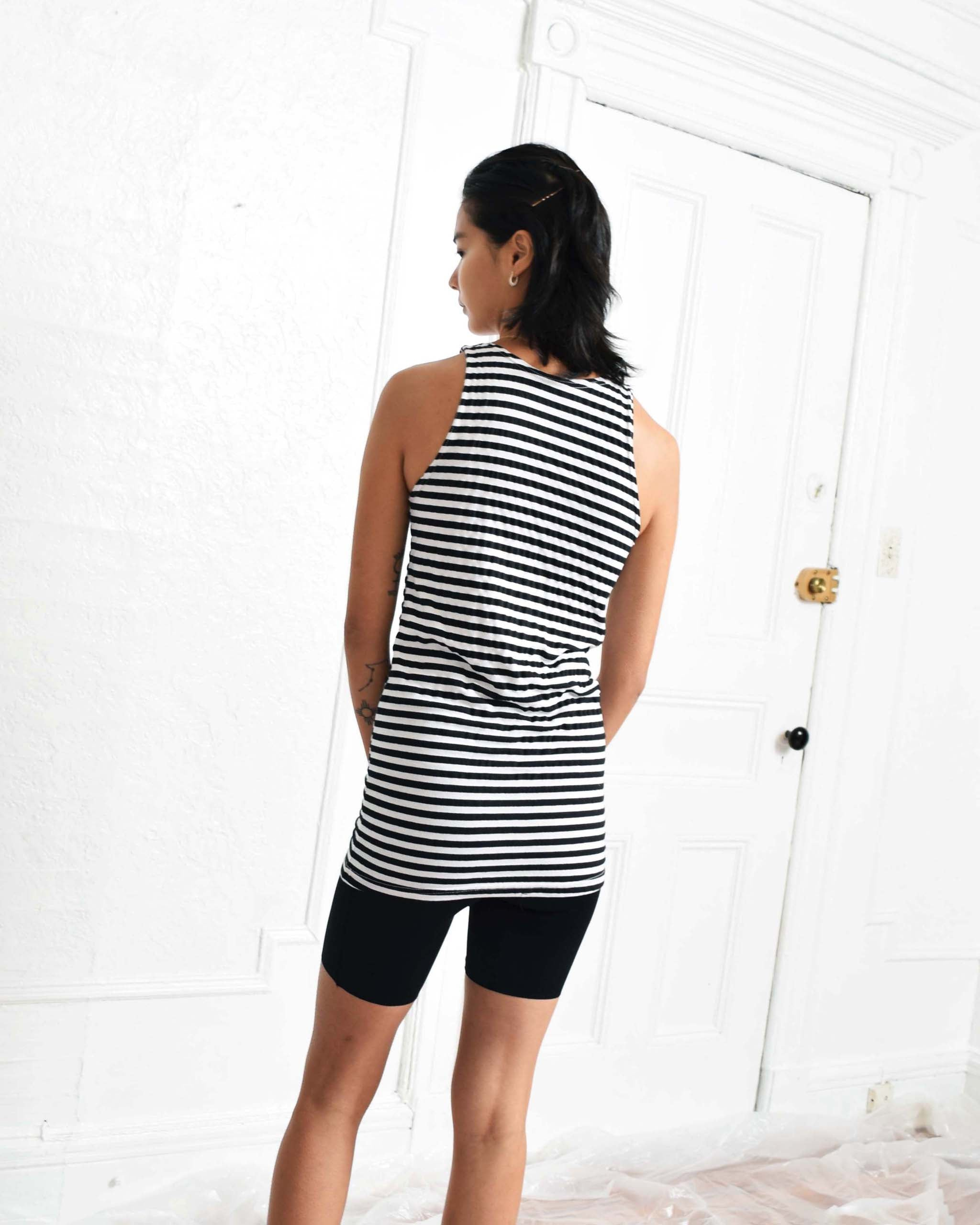 Vintage Black Striped Tank