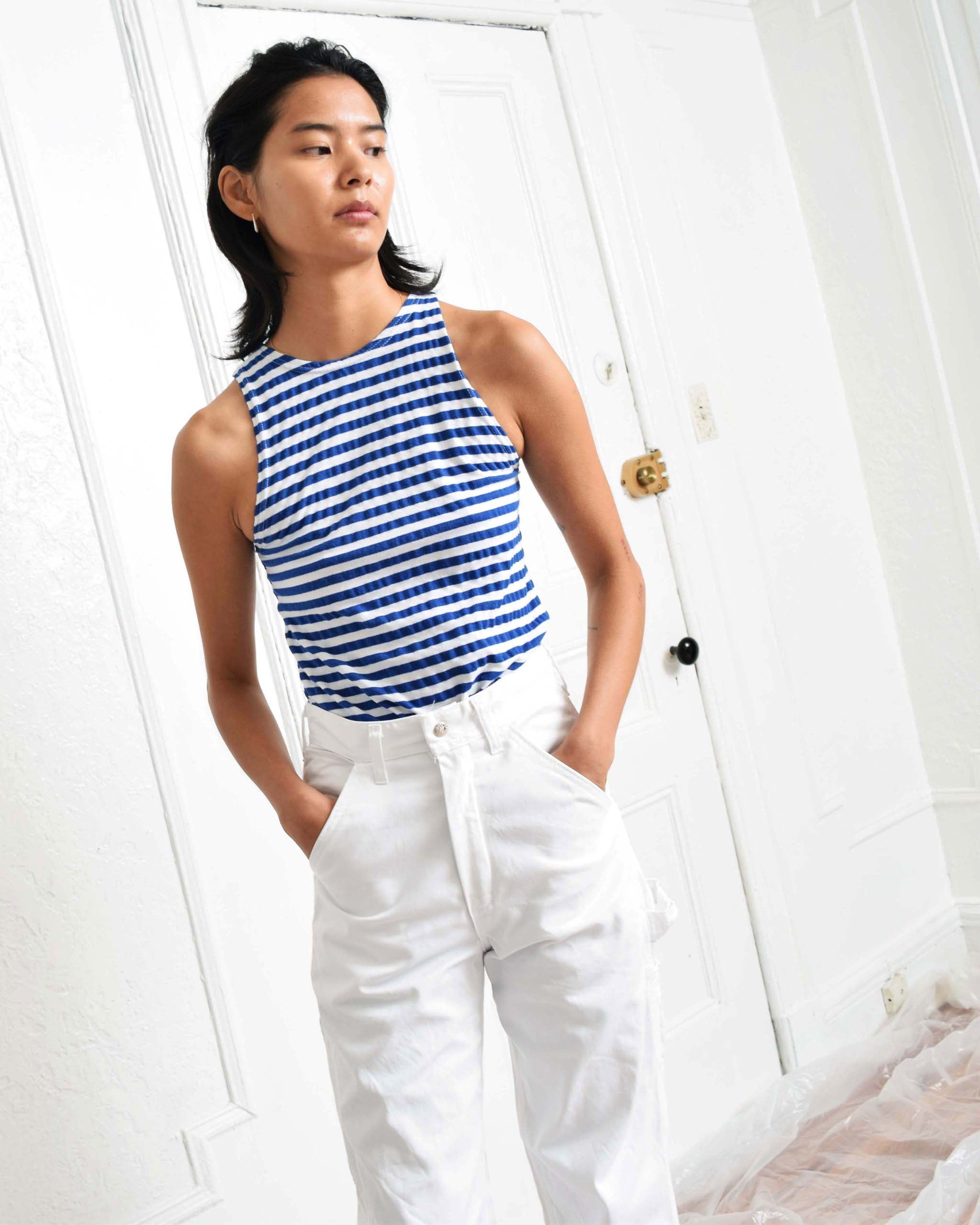 Vintage Cobalt Striped Tank