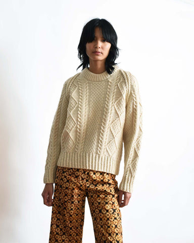 Vintage Boxy Cable Knit Sweater