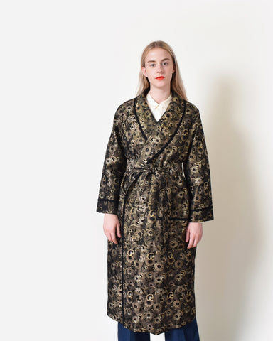 Vintage Metallic Brocade Robe Jacket
