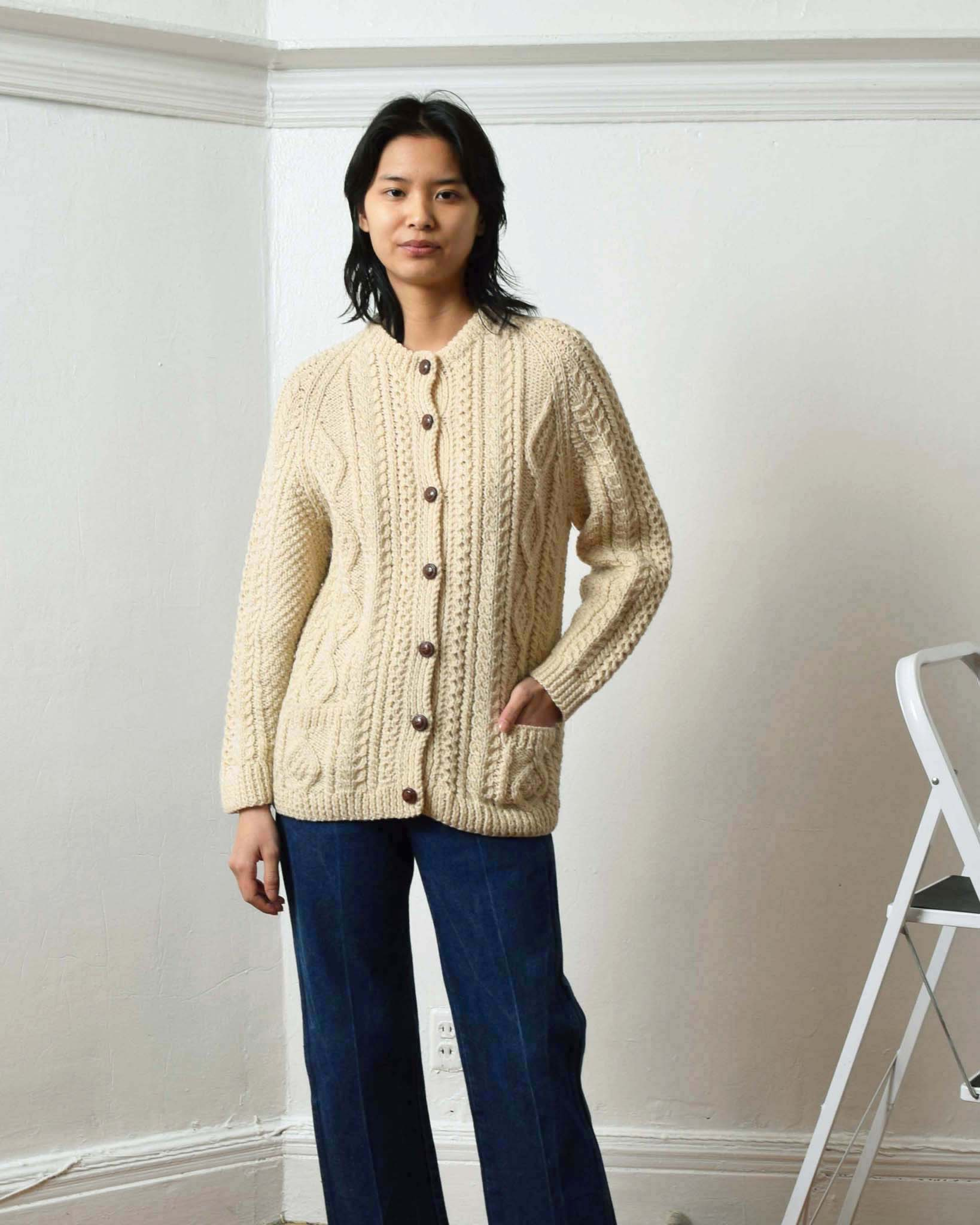 Vintage Cable Knit Cardigan
