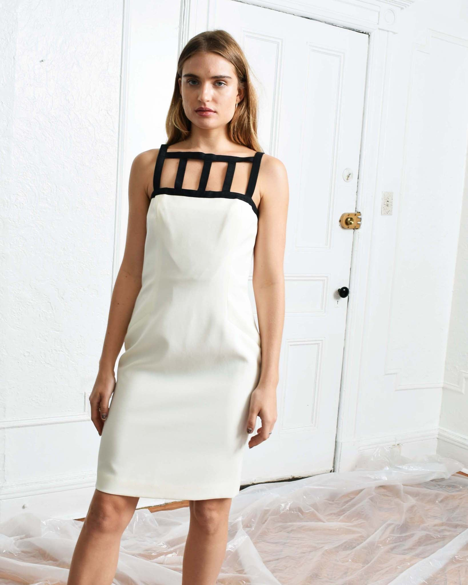 Vintage Caged Sheath Dress