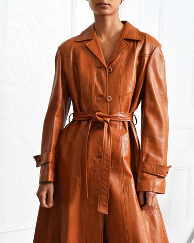 Vintage 1970s Leather Trench