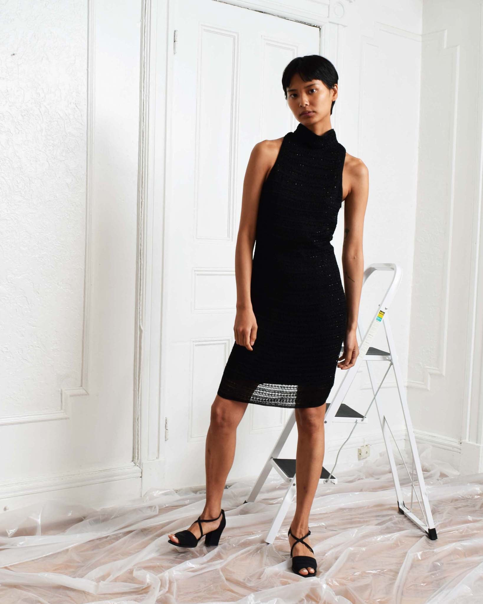 Carmen Marc Valvo Crochet Dress