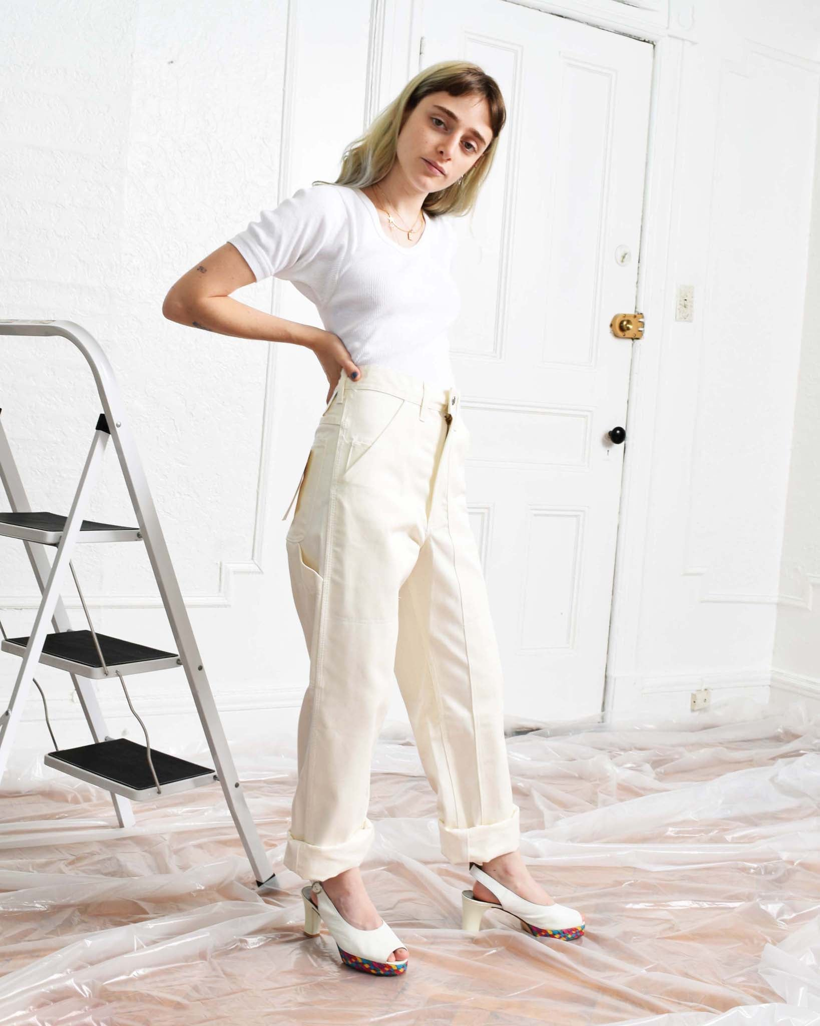 Vintage Double Front Painter Pants, Multiple Sizes & Colors