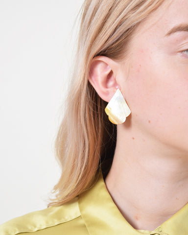 Vintage 1980s Abstract Cutout Earrings