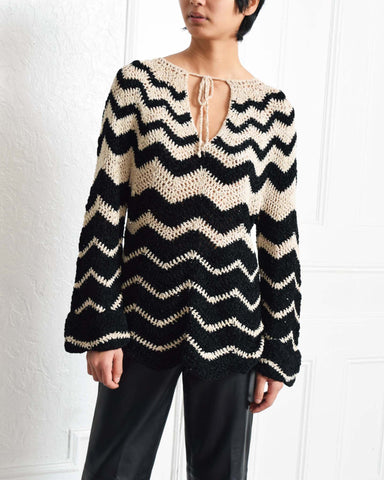 Vintage Chevron Crochet Top