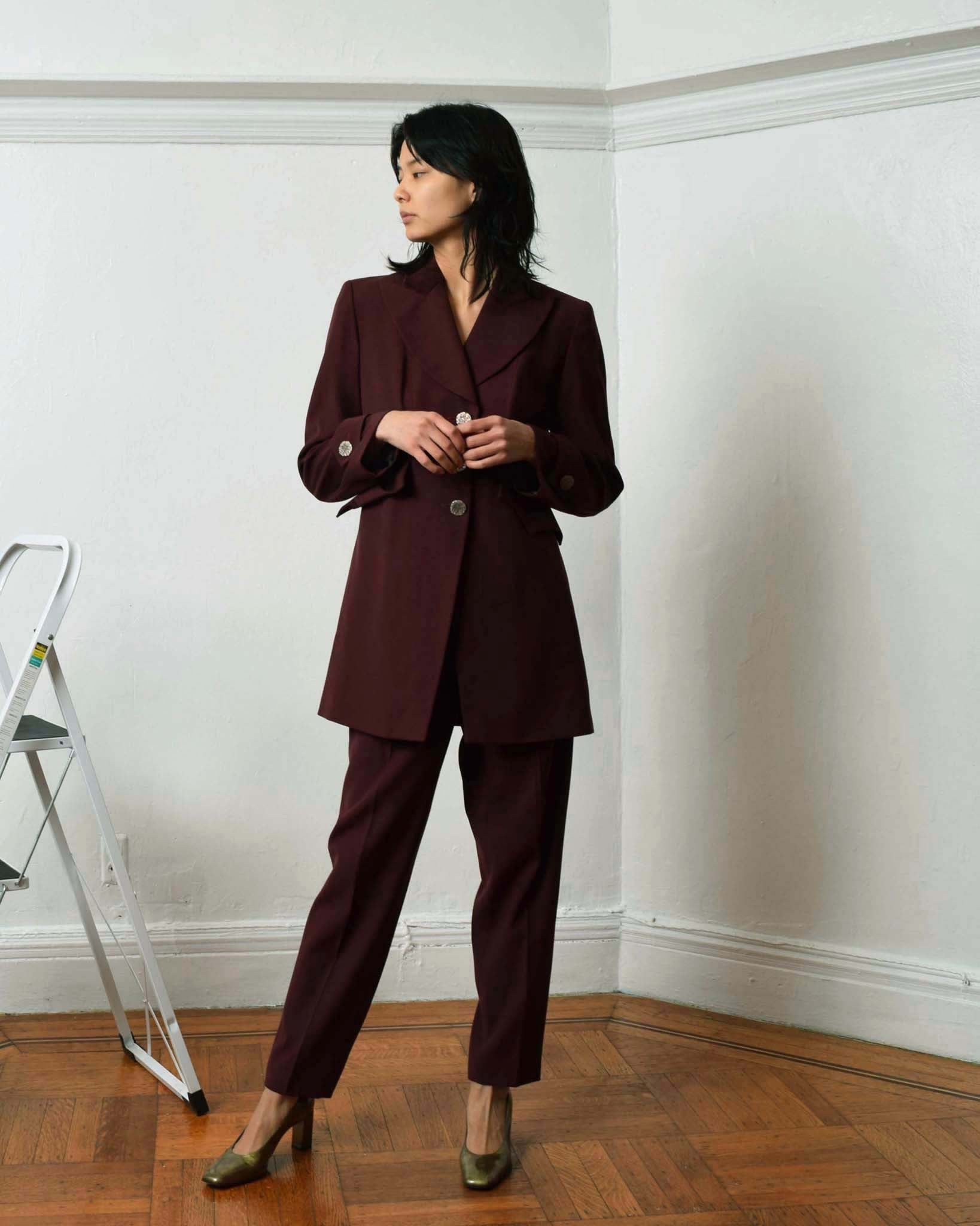 Christian Lacroix Burgundy Suit