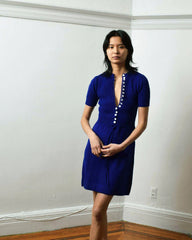 Vintage Cobalt Sweater Dress
