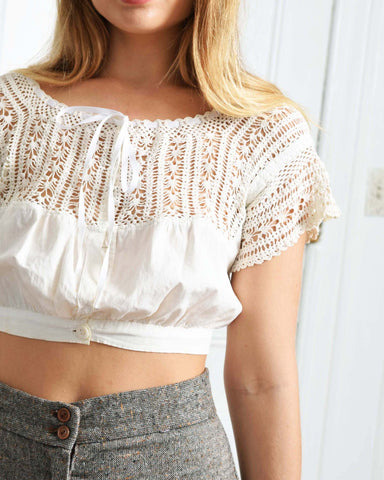 Antique Edwardian Crochet Blouse