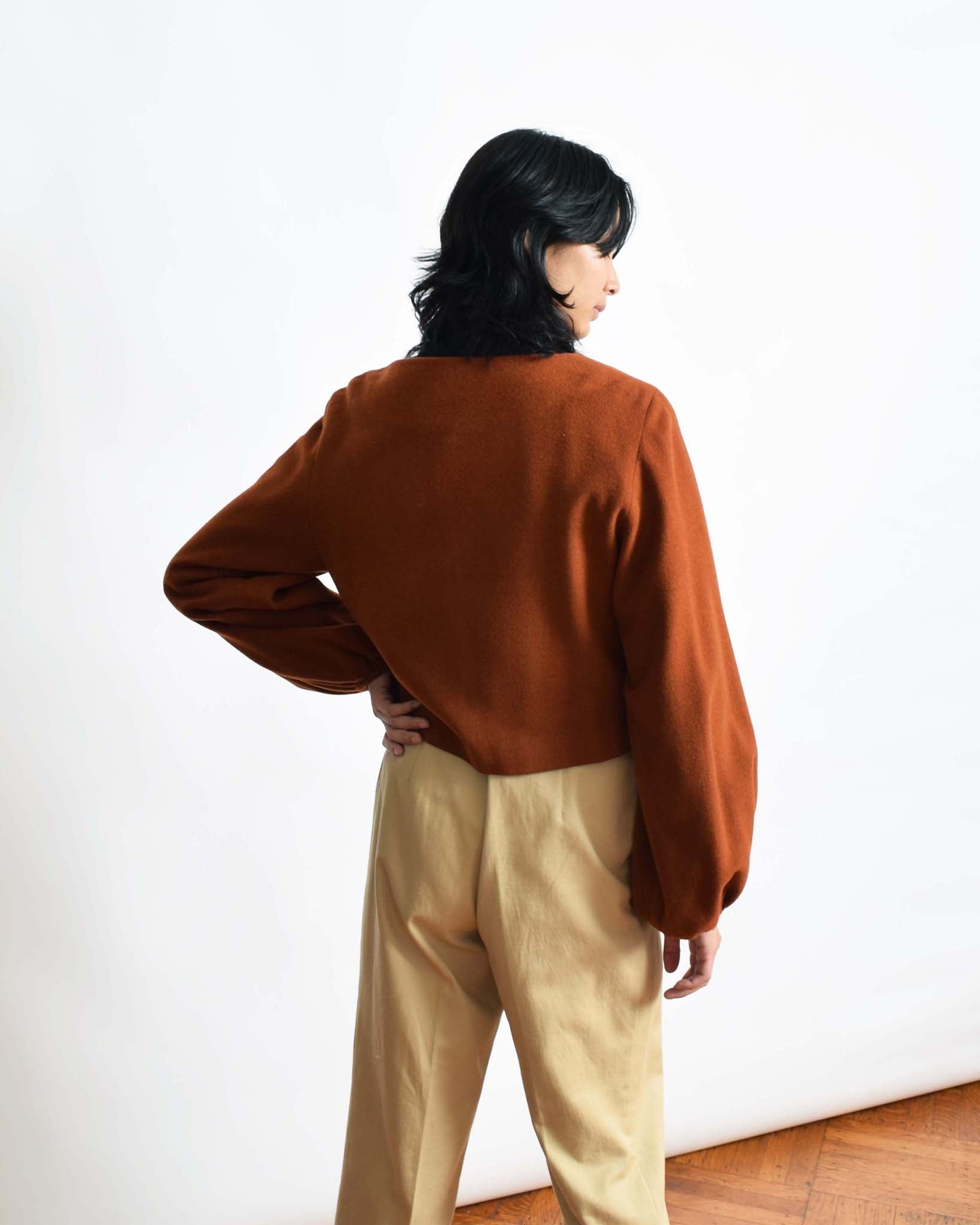 Vintage Cropped Rust Jacket