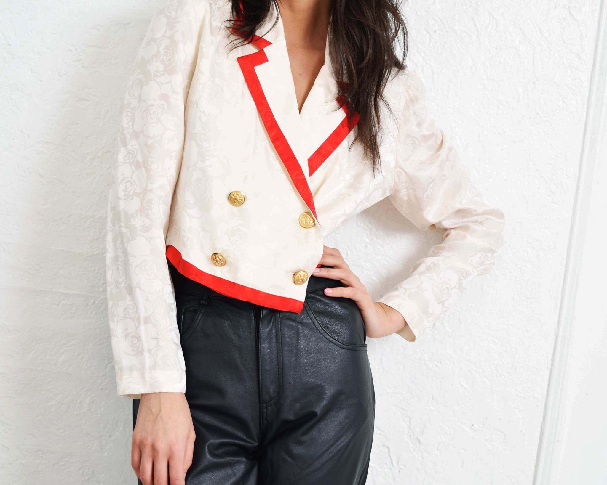 Vintage Cropped Silk Jacket