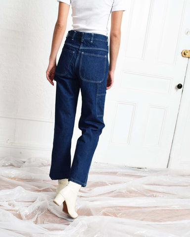 Vintage 1970s Carpenter Pants - Dark Wash