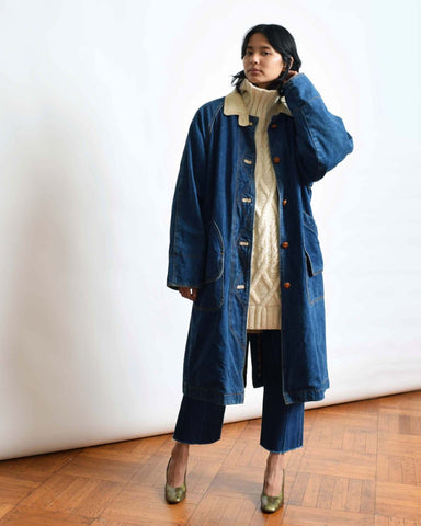 Vintage Dark Denim Duster