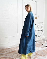 Vintage Denim Duster Coat
