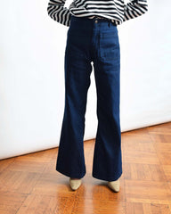 Vintage Dark Wash Seafarer Trousers