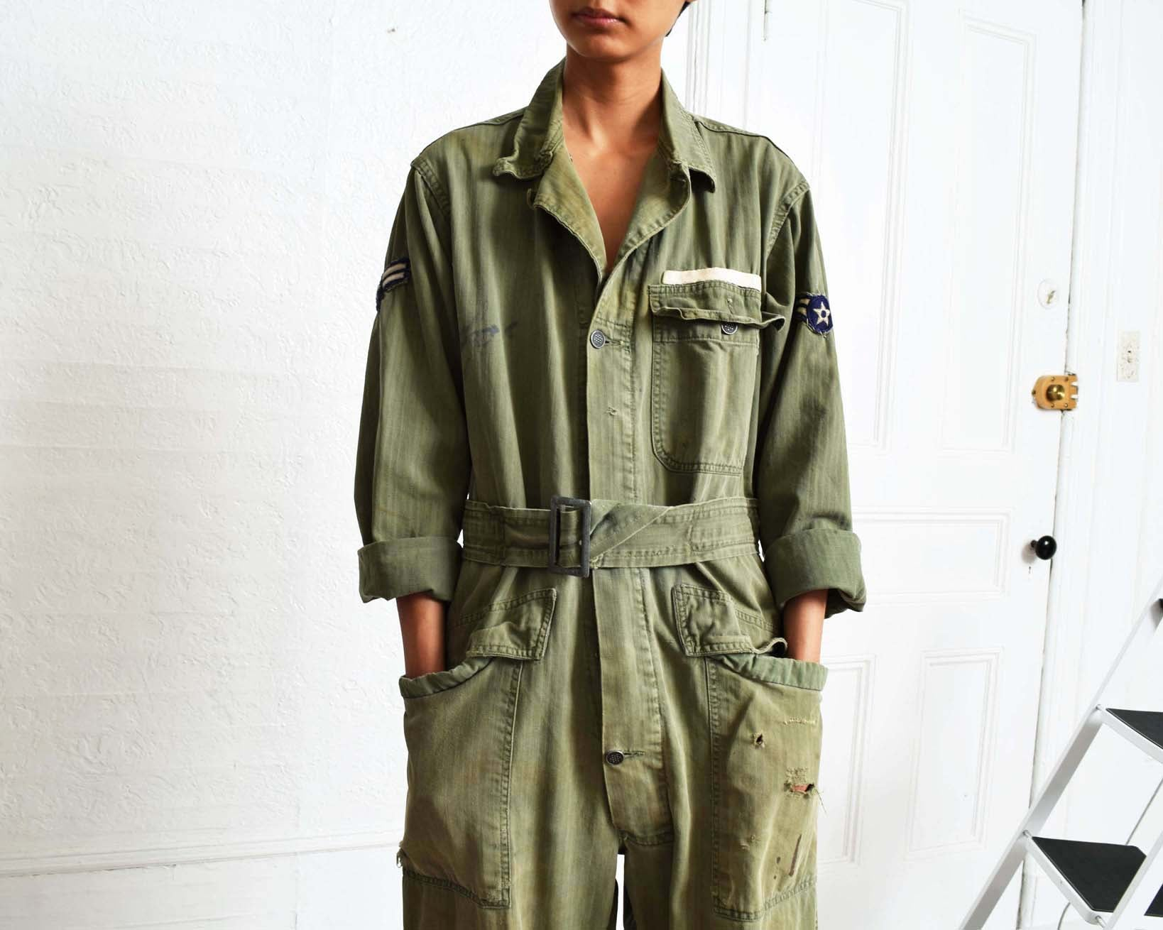 Vintage 1940s Distressed Flight Suit