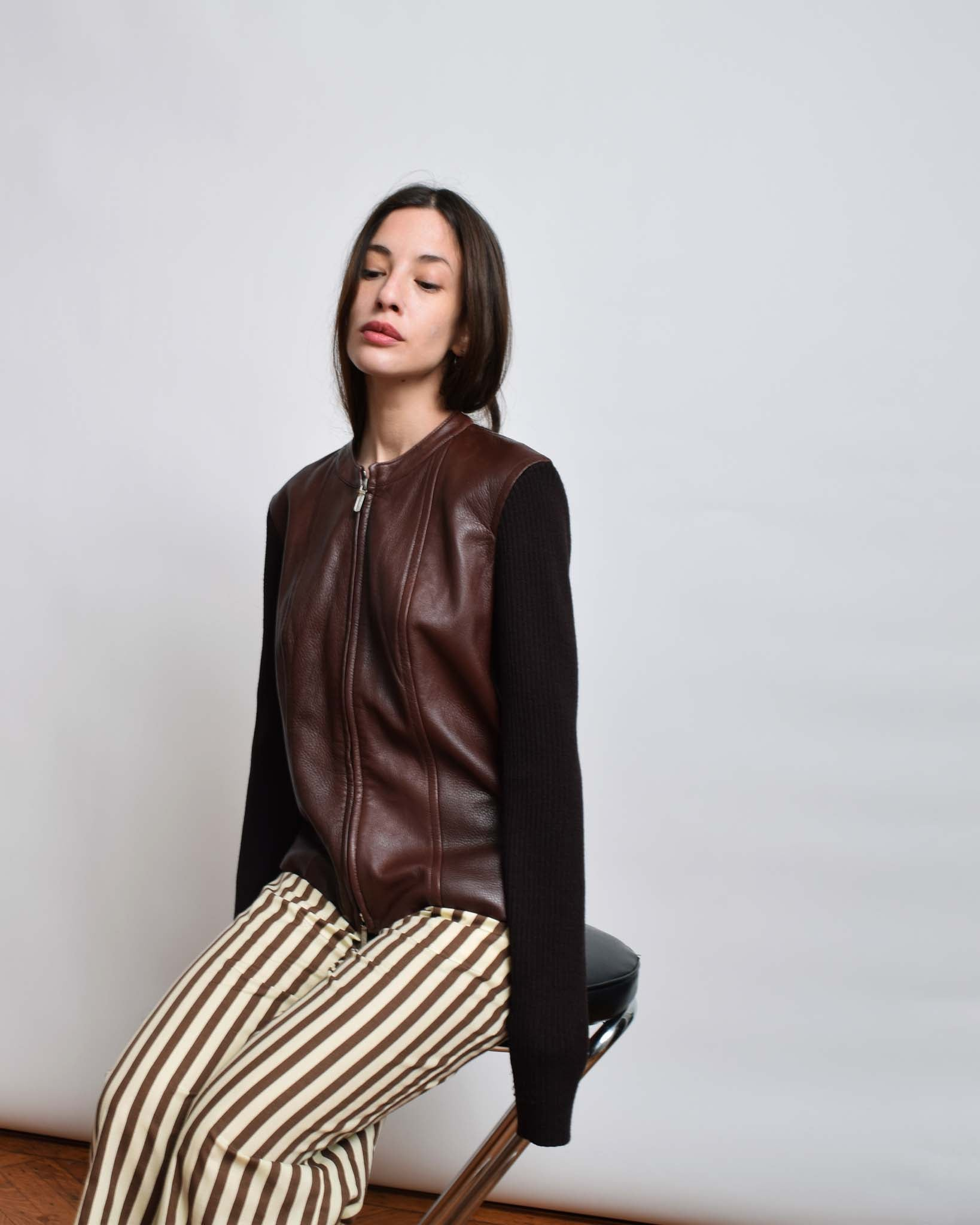 Vintage Donna Karan Leather Jacket